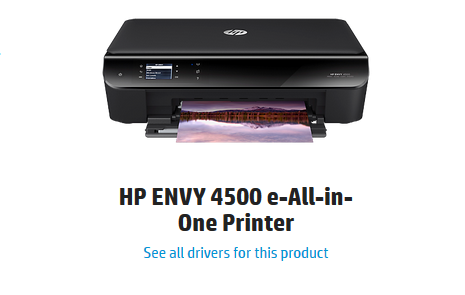 HP Envy 4500 Printer Series Driver and Software Download