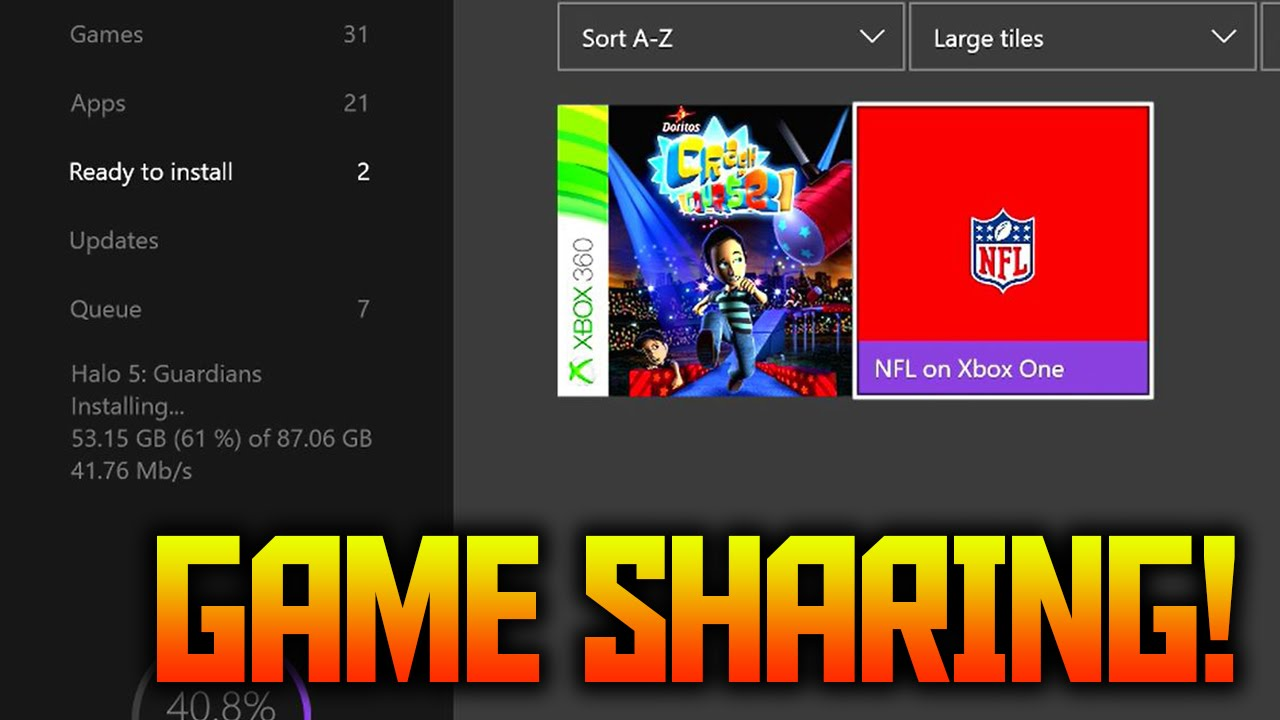 How to gameshare on Xbox One | how to gameshare xbox one